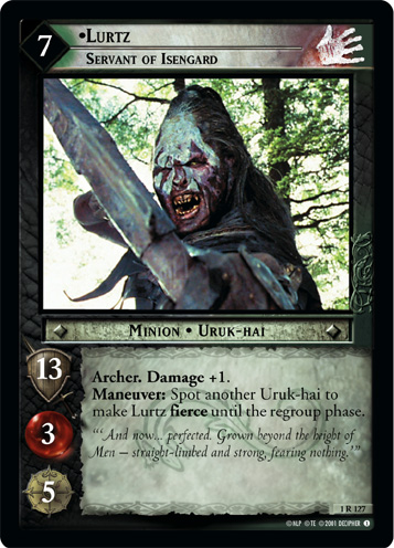 Lurtz, Servant of Isengard (1R127) Card Image
