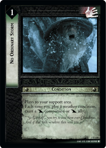 No Ordinary Storm (1U130) Card Image