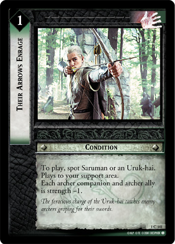 Their Arrows Enrage (1C141) Card Image