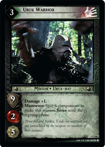Uruk Warrior (1C156) Card Image