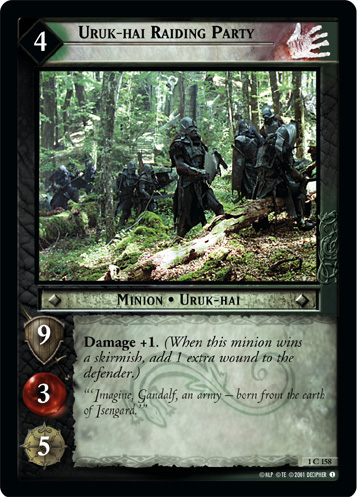 Uruk-hai Raiding Party (1C158) Card Image