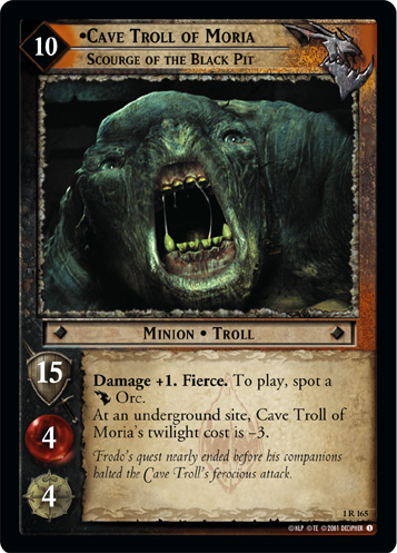 Cave Troll of Moria, Scourge of the Black Pit (1R165) Card Image