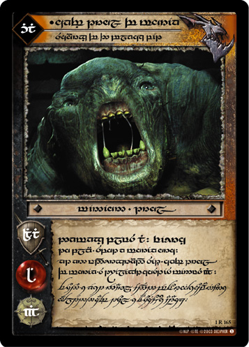 Cave Troll of Moria, Scourge of the Black Pit (T) (1R165T) Card Image