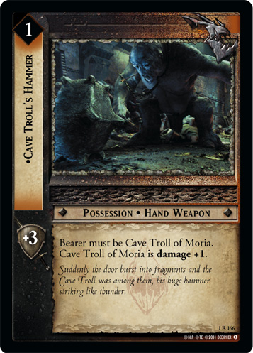 Cave Troll's Hammer (1R166) Card Image