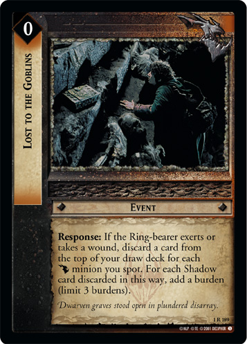 Lost to the Goblins (1R189) Card Image