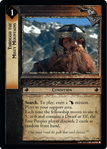 Through the Misty Mountains (1U198) Card Image
