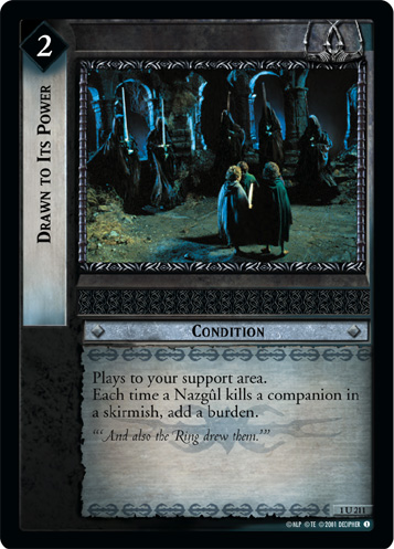 Drawn to Its Power (1U211) Card Image
