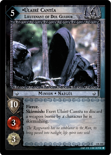 The Lord Of The Rings Trading Cards Nazgul
