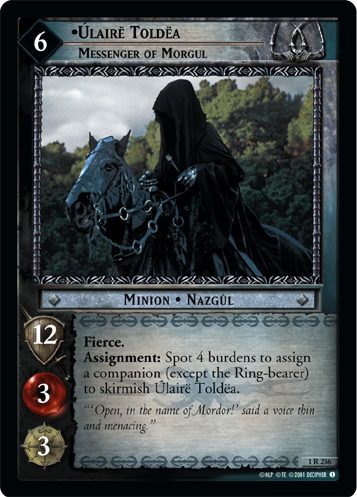 Ulaire Toldea, Messenger of Morgul (1R236) Card Image