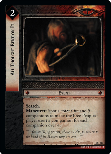 All Thought Bent on It (1U239) Card Image