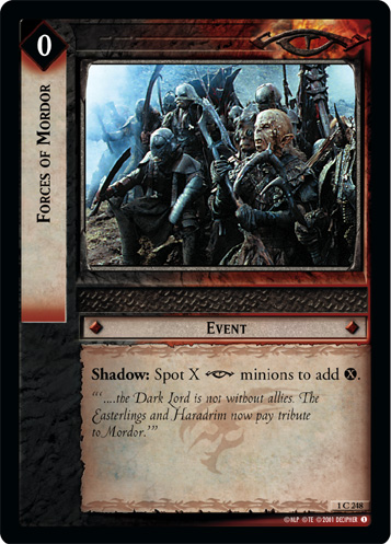 Forces of Mordor (1C248) Card Image