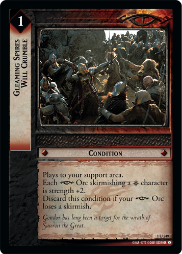 Gleaming Spires Will Crumble (1U249) Card Image