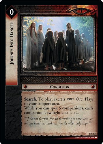 Journey Into Danger (1R253) Card Image