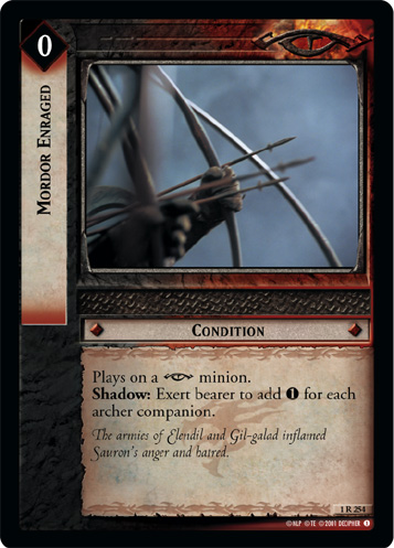 Mordor Enraged (1R254) Card Image