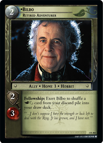 Bilbo, Retired Adventurer (1R284) Card Image