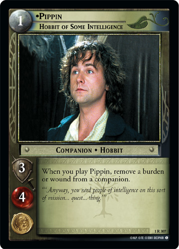 Pippin, Hobbit of Some Intelligence (1R307) Card Image