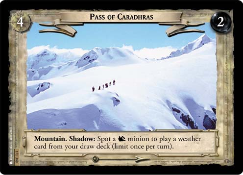 Pass of Caradhras (1U348) Card Image