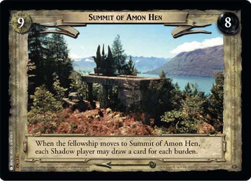 Summit of Amon Hen (1C362) Card Image