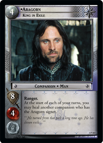 Aragorn, King in Exile (1P365) Card Image