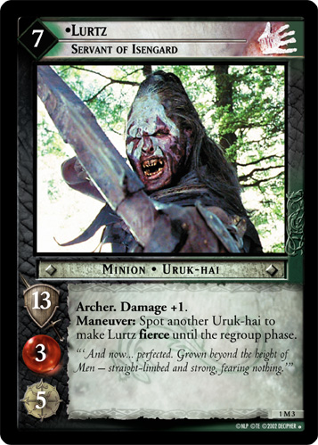 Lurtz, Servant of Isengard (M) (1M3) Card Image