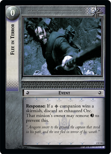 Flee in Terror (2U33) Card Image