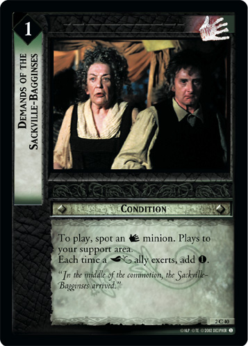 Demands of the Sackville-Bagginses (2C40) Card Image