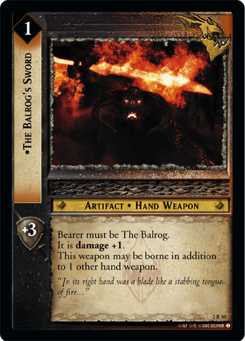 The Balrog's Sword (2R50) Card Image