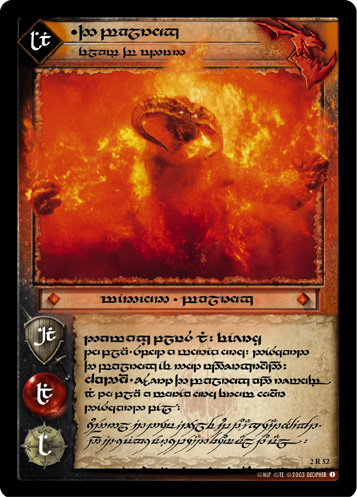 The Balrog, Flame of Udun (T) (2R52T) Card Image
