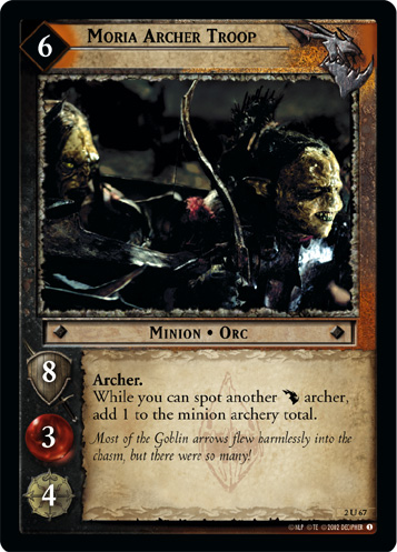 Moria Archer Troop (2U67) Card Image