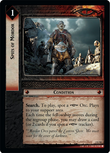 Spies of Mordor (2U92) Card Image