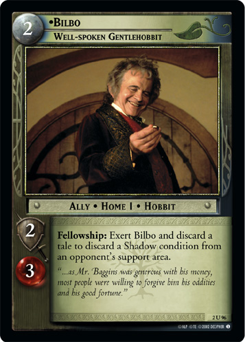 Bilbo, Well-spoken Gentlehobbit (2U96) Card Image