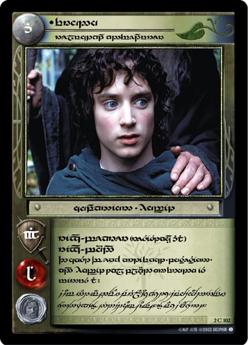 Frodo, Reluctant Adventurer (T) (2C102T) Card Image