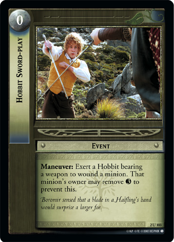 Hobbit Sword-play (2U103) Card Image