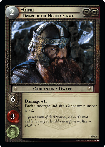 Gimli, Dwarf of the Mountain-race (2P121) Card Image