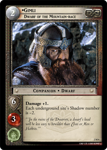 Gimli, Dwarf of the Mountain-race (M) (2M4) Card Image