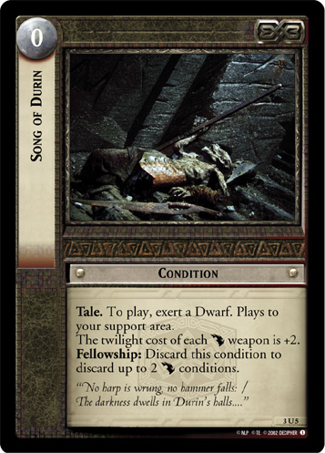 Song of Durin (3U5) Card Image