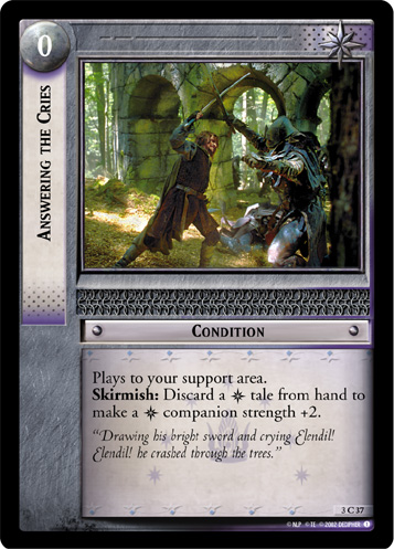 Answering the Cries (3C37) Card Image