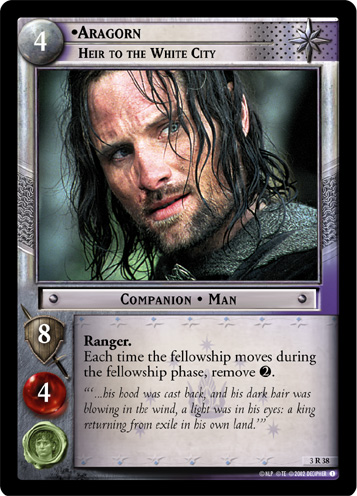 Aragorn, Heir to the White City (3R38) Card Image