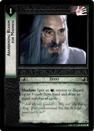 Abandoning Reason for Madness (3C49) Card Image