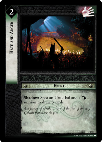 Hate and Anger (3U53) Card Image