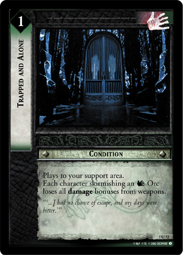 Trapped and Alone (3U72) Card Image