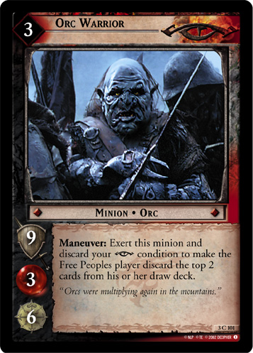 Orc Warrior (3C101) Card Image