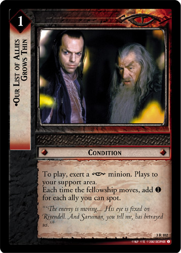 Our List of Allies Grows Thin (3R102) Card Image