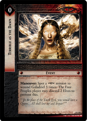 Terrible as the Dawn (3R103) Card Image