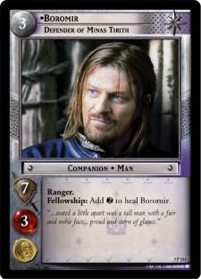 Boromir, Defender of Minas Tirith was later reprinted in Black Rider.