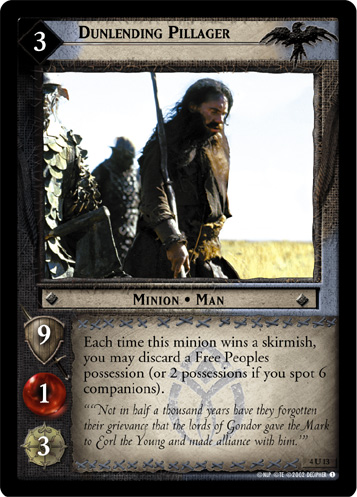 Dunlending Pillager (4U13) Card Image