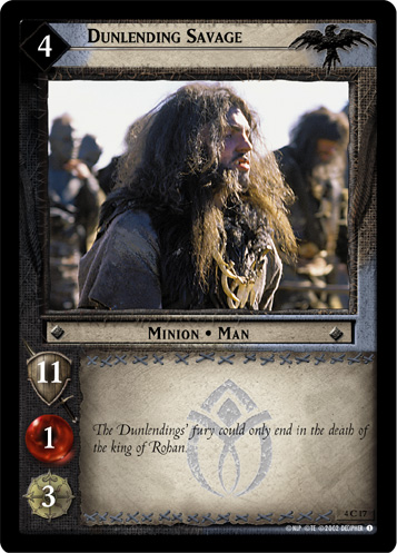 Dunlending Savage (4C17) Card Image