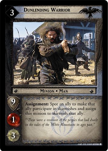 Dunlending Warrior (4C18) Card Image