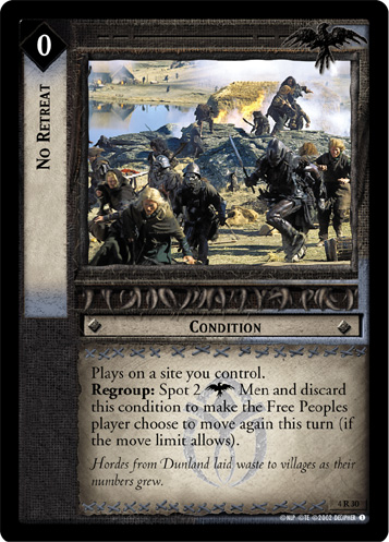 No Retreat (4R30) Card Image