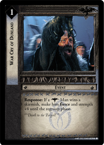 War Cry of Dunland (4C37) Card Image